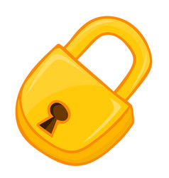 padlock isolated vector image vector image