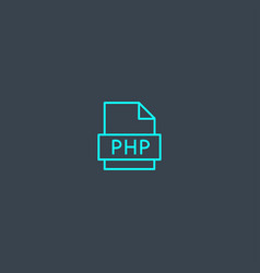php concept blue line icon simple thin element on vector image