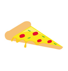 pizza slice design vector image