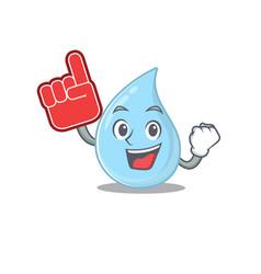 Raindrop presented in cartoon with foam finger vector