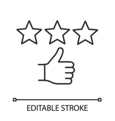 rating linear icon vector image