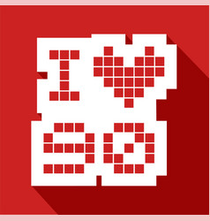 red love 90 icon vector image