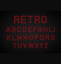 retro font neon vector image