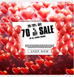 rgbvalentines day sale background vector image