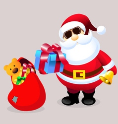 Santa Clause with Christmas Gifts vector image