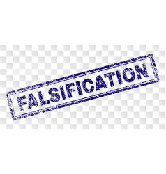 Scratched falsification rectangle stamp vector