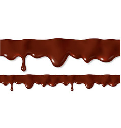 seamless dripping melted chocolate vector image