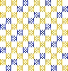 Seamless embroidered texture squares vector