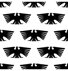 Seamless pattern imperial eagle vector