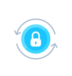 Secure access security icon on white vector