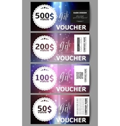 Set of modern gift voucher templates Flashes vector