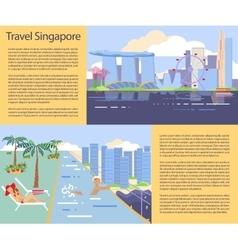 Singapore flyer big city vector