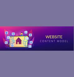 sitemap creation concept banner header vector image