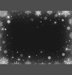 Snowed border frame christmas holiday snow clear vector