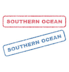 Southern ocean textile stamps vector