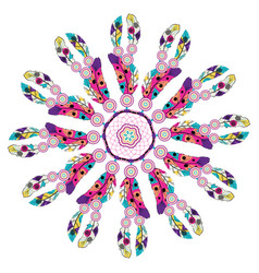 stylized dream catcher vector image