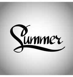 Summer hand lettering - handmade calligraphy vector image vector image