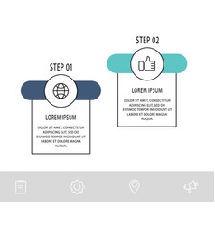 Template circle infographics business vector