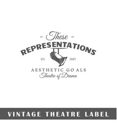 Theatre label vector