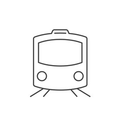 Train outline icon vector