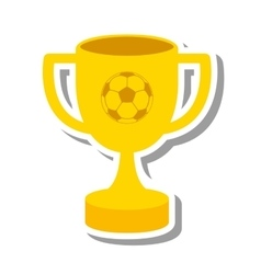 Trophy cup winner isolated icon vector