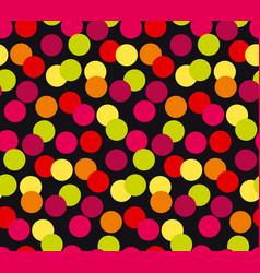 vivid colorful random polka dot seamless pattern vector image