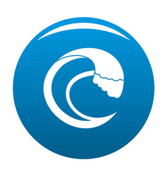 Wave aqua icon blue vector
