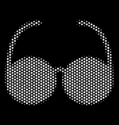 white dot spectacles icon vector image