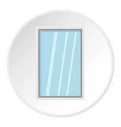White window frame icon circle vector