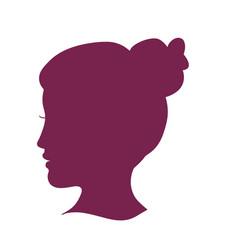 women head silhouette vector image