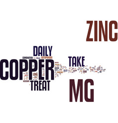 Zinccopper text background word cloud concept vector