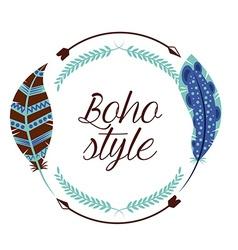 boho style vector image