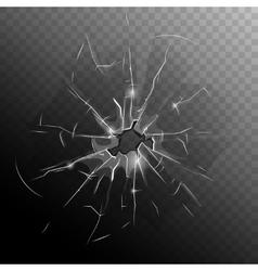 Broken Window Pane vector image