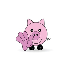 little pig welcomes you vector image