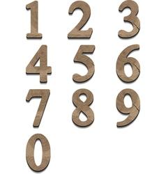 wooden numbers vector image