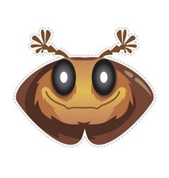 beetle mask vector image vector image
