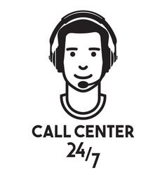 call center vector image vector image