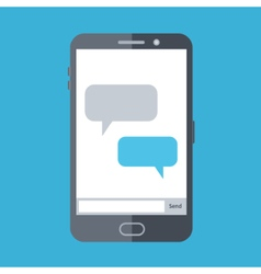Flat design of mobile chat vector image