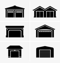 garages vector image vector image