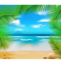 golden beach sunset vector image vector image