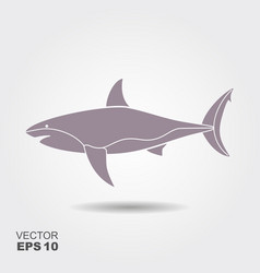 silhouette of a shark icon vector image