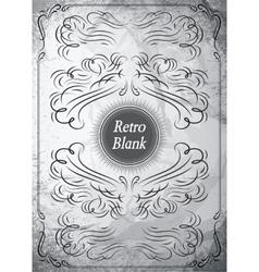 Vintage ornament on grunge background for design vector image