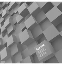 3d blocks structure backgroun vector image vector image