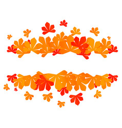 colorful autumn leaves red autumn sale frame vector image vector image