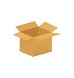 empty cardboard box opened isolated on white vector image