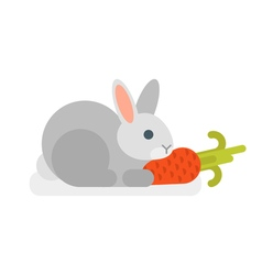 flat style of rabbit vector image vector image