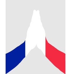 French pray vector image vector image