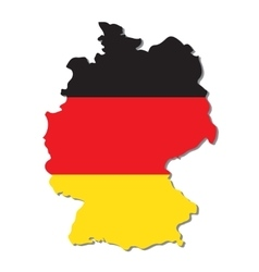 Germany map with flag vector image vector image