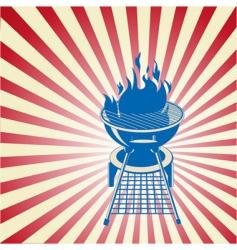 patriotic barbeque vector image vector image