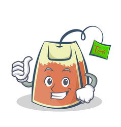 proud tea bag character cartoon vector image